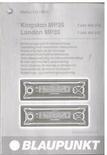 Bedienungsanleitung Blaupunkt Kingston MP35 und London MP35