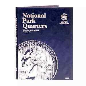 Whitman Coin Folder 2876 National Park Quarter Vol 1 2010 - 2015 P&D  Album/Book