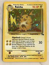 Pokemon Cards Fossil Raichu Holo #14/62 - MINT PSA BGS
