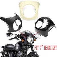 Motorcycle Headlight Handlebar Fairing Retro Cafe Racer Style Universal 7 inch