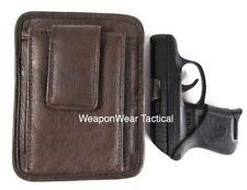 Brown Leather Unisex Pistol Pack Belt Holster Concealment Concealed Carry #16 S