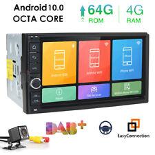 Android 10.0 Double 2Din Car Stereo Radio GPS Navi Wifi DAB 4GB RAM 64GB+Camera