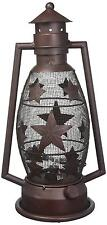Star Lantern Electric Rustic Home Decor Western Cabin Lodge Man Cave Light New