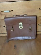 Vintage briefcase brown leather attache bag