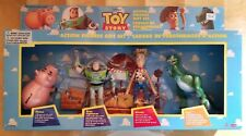 1996 TOY STORY ACTION FIGURE GIFT SET WOODY, BUZZ & BABY FACE, RARE, NIB