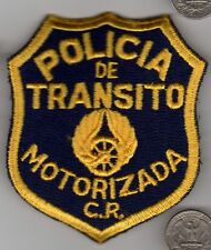 Vintage Military or Police Patch Costa Rica? POLICIA de TRANSITO MOTORIZADA C.R.