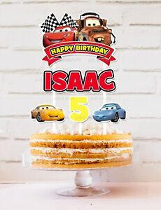 Cars - Lightening McQueen Cake Topper Personalised *STURDY* Party Decorations