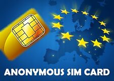 2x Anonym prepaid SIM card anonymous calls SMS / European Union / T-mobile Netw.