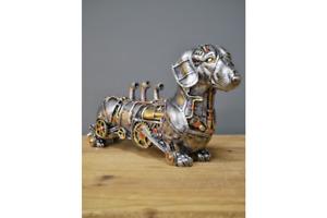Steampunk Dachshund Sausage Dog Ornament Figurine Sculpture