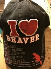 I ❤️ BEAVER- Hat/Cap. New Never Worn. Adjustable Size. MUST SEE !