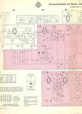 Telefunken Service Schaltplan für Allegro 2082 S