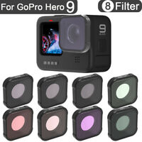 For Gopro Hero 9 Black Lens Filters UV/CPL/ND8/16/32 Action Camera Accessories