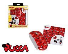 Mouse USB Ottico e Tappetino Decorato Pucca Love Goal