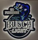 "RARE Busch Light ""Go Fishhhhhh"" LED Beer Sign Light Bar Fishing Fish Not Neon"