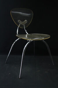 Alter Chair Old Vintage Designer Chair From 80er Years Transparent