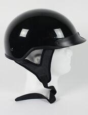 DOT Gloss Black Motorcycle Half Helmet   Beanie Helmets
