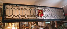 Large Vintage Stained Glass Window Panel (09250)Ns