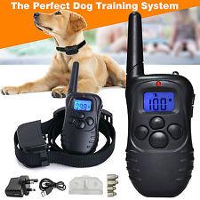 Recargable Descarga Eléctrica Control Remoto E-Collar de perro adiestramiento anti-corteza Kit!