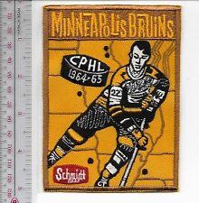 Beer Hockey Minneapolis Bruins & Schmidt Beer 1964 1965 Season CPHL Promo Patch