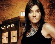 Michelle COLLINS SIGNED Autograph 10x8 Photo AFTAL COA Dr Who Tardis