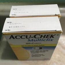 AccuChek  Multi clix Lancets  2020. 2 Boxes (204 Lancets )