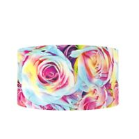 "Bright Rainbow Roses Flowers 3"" 2"" 75mm 50mm Grosgrain Ribbon"