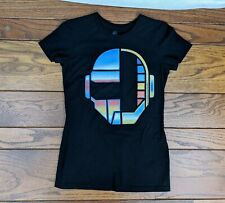 TeeFury Daft Punk Black T-Shirt Women's Size S Helmets French Electronic Music