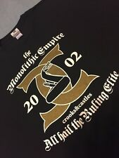 CROOKS AND CASTLES MONOLITHIC EMPIRE T SHIRT SZ XL !!