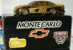 1998 Racing Champions #98 24 KT GOLD 3X AUTOGRAPHED 1/24 car W/PHOTOS OF SIGNING