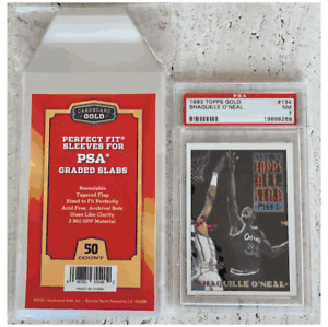 50 count PSA Graded Slabs Perfect Fit Resealable Sleeves CardboardGold IN HAND