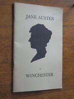 Jane Austen in Winchester by Frederick Bussby SC 1975