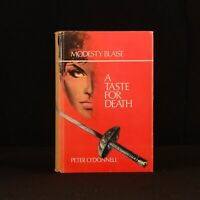 1969 First Edition A Taste for Death Modesty Blaise Peter O'Donnell