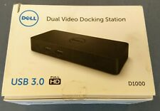 DELL D1000 USB 3.0 Dual Video HDMI, VGA, Display Port Docking Station with PSU
