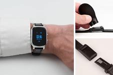 GPS-Track WatchPro silber:GPS-Uhr mit Spezial-Armband   Senioren-Ortung incl.App
