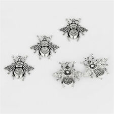 5pcs Lovely Honeybee Bee Insect Tibetan Silver Charms Pendants Beads 40x38mm New