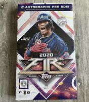 2020 Topps Fire Baseball Hobby Box 2 Autographs HIT Factory Sealed Acuna Trout
