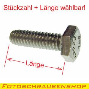"""1/4""""- Edelstahl-Sechskantschraube / Fotogewinde (Menge und Länge wählbar)"""