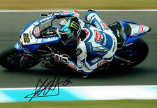 Alex LOWES SIGNED WSBK Autograph YAMAHA PATA 12x8 Photo A AFTAL COA