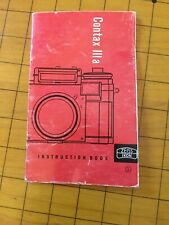 Contax Iiia Instruction Book