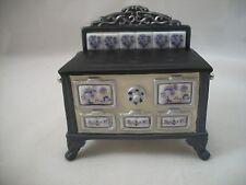 Stove - Blue Onion  Porcelain 1.843/1 miniature dollhouse furniture 1/12 scale
