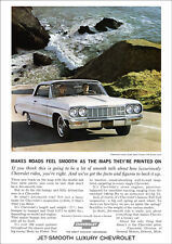 CHEVROLET 64 IMPALA SS RETRO A3 POSTER PRINT FROM CLASSIC ADVERT 1964
