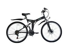 "Ecosmo 26"" Wheel Folding Steel Mountain MTB Bicycle Bike 21SP, 18.5"" -26SF02BL"