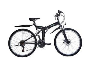 """Ecosmo 26"""" Wheel Folding Steel Mountain MTB Bicycle Bike 21SP, 18.5"""" -26SF02BL"""