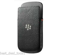 OEM Blackberry Leather Pocket Pouch Case For BB Q10 Q-10 BB10 Black Ve