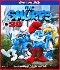 The Smurfs (Blu-ray/DVD, 2011, 3-Disc Set, 3D/2D; Includes Digital Copy;...