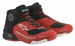 Alpinestars CR-X DRYSTAR RIDING Motorbike/Scooter Short Ankle Boots/Shoe - Red