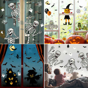 3D DIY Witch Skull Window Wall Stickers Decal Halloween Home Party Decoration
