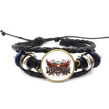 Live To Ride Glass Cabochon Bracelet Braided Leather Strap Bracelets