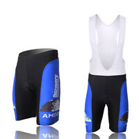 Discovery Channel Mens Cycling Bibs Shorts Padded Bike Bicycle Blue (Bib) Shorts
