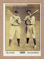 Ty Cobb & Shoeless Joe Jackson '20, Monarch Corona Immortals #1, nm-mint cond.